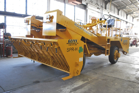 image of used chip spreader